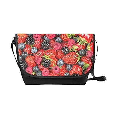 ff6748230a Crossbody Bag berry fruits Black Nylon Daypacks Casual Messenger Shoulder  Bag low-cost