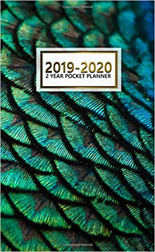 2018 2019 peacock feathers 2 year pocket planner