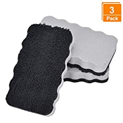 [3 Pack] Dry Erase Erasers, Browill Wash...