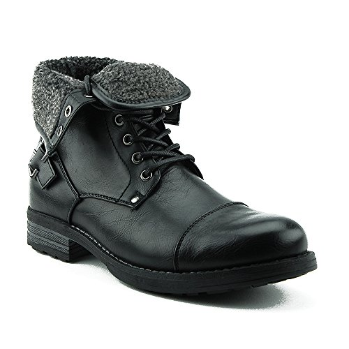 Monroe Fleece Men's Warm Black Lined 03 Lace Winter New Up Boots Style Combat Military Sw5q1IxWd