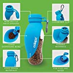 Colapz Portable Dog Water Bottle – Pet Food and Water Dispenser – Puppy and Dog Travel Accessories – Large 570ml…