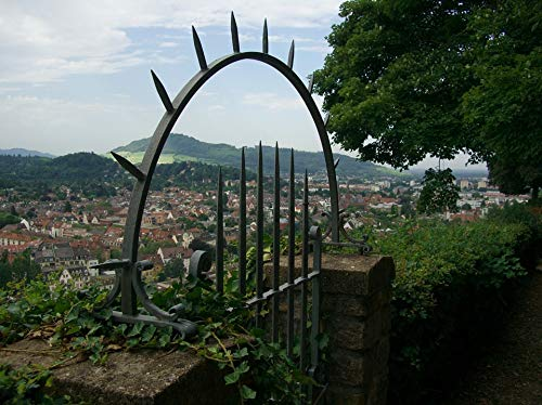 Home Comforts Laminated Poster Iron Gate Wall View Freiburg Pointed Schlossberg Vivid Imagery Poster Print 24 x 36