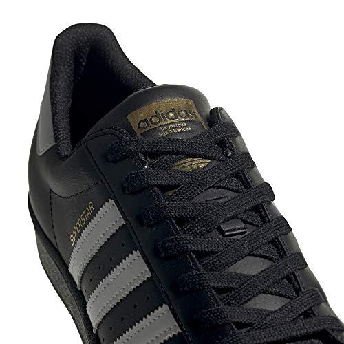 adidas Originals Men's Superstar Shoes Sneaker, Black/White/Black, 18