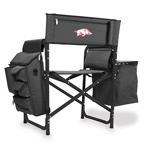 NCAA University of Arkansas Digital Print Fusion Chair, Dark Grey/Black, One Size by PICNIC TIME