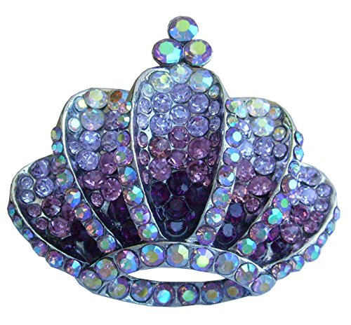 Silver Crystal Crown Pin (Sindary Retro 2.36