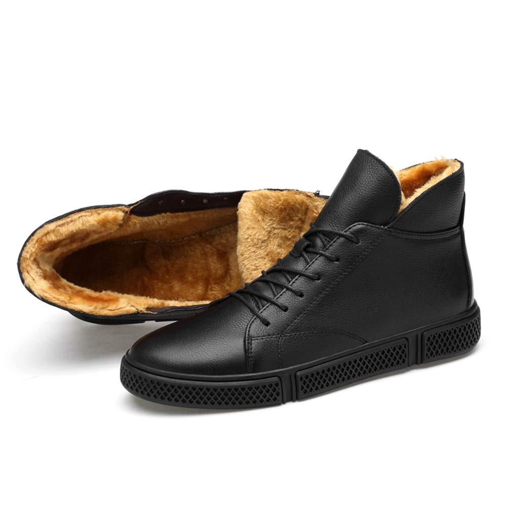 Ruanyi Mode Winterstiefel, Lässige Lässige Lässige Faux Fleece Inside Big Größe High Top Stiefel (konventionell optional) für Männer (Farbe   Warm schwarz, Größe   46 EU) 230ca6
