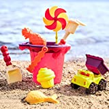 B. Toys - Sands Ahoy - Beach Playset - Medium Bucket Set with 9 Unique Sand & Water Toys -Phthalates and BPA Free - 18 m+