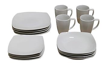 Gibson Home Chelsea Cafe 16 pc Dinnerware set.  sc 1 st  Amazon.com & Amazon.com   Gibson Home Chelsea Cafe 16 pc Dinnerware set ...