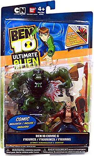 Ben 10 Ultimate Alien Comic Exclusive 4 Inch Action Figure 2Pack Ultimate Humungousaur Aggregor