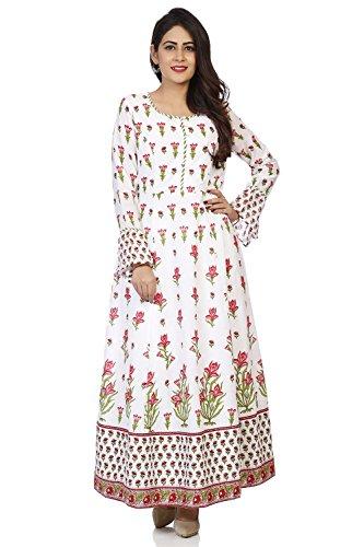 - BIBA Women's Off White Cotton Kurta Size 32