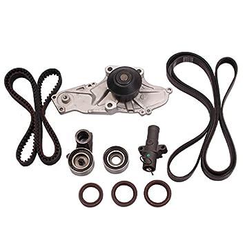 Set de 10 Motor Correa De Distribución para con bomba de agua Honda Acura 3.0L 3.2L 3.5L 3.7L V6 Factory partes: Amazon.es: Coche y moto