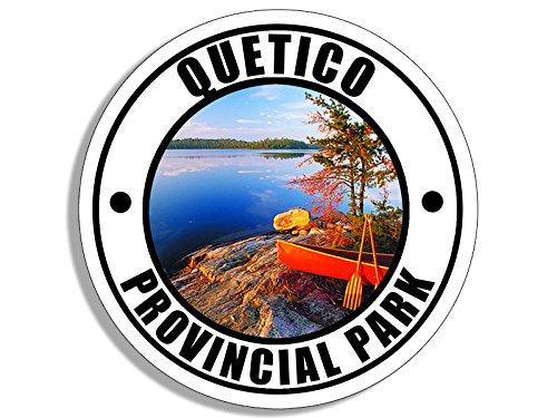 American Vinyl Round QUETICO Provincial Park Sticker (Wilderness Canada Canadian ca Ontario)