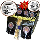 SmudgeArt Flower Art Designs - Rose BW - Coffee Gift Baskets - Coffee Gift Basket (cgb_11793_1)