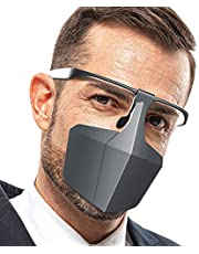BAGGRA Plastic Protective Mask Against Droplets Anti-fog Isolation Face Mask Breathable Reusable Protective Cover Isolation Shield