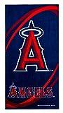 "MLB Los Angeles Angels Emblem Orbit Beach Towel Cotton, 28"" x 58"""