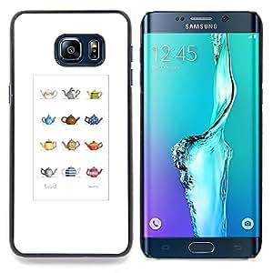 Stuss Case / Funda Carcasa protectora - Tetera minimalista Modelo artístico - Samsung Galaxy S6 Edge Plus / S6 Edge+ G928