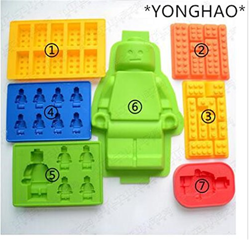 Cake Tools Holes Lego Mini Figure Robot Ice Cube Tray Mold Chocolate Cake Jelly Jello Silicone Mold Fondant Moulds N543 Style 2 - Elmo Baking Cups