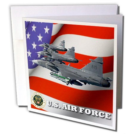United States Air Force  - Greeting Card, 6 x 6 inches, single (gc_61135_5) (Air Force Single)