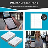 Waiter Wallet Pads, Four Inches by Six Inch