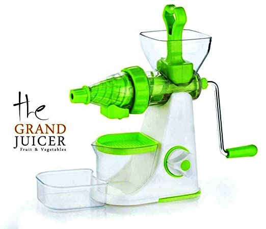 Buyshop Vegetable Premium Manual Hand Juicer Mixer Grinder with Steel Handle & Waste Collector