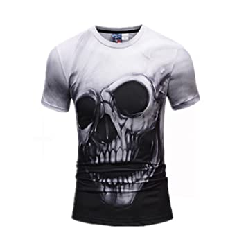 ffb26086146eb0 ZWFUN T-Shirts, 2018 Modell Männer 3D-Druck Oversize Herren Shirt Slim Fit