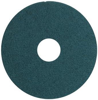 "Glit 13515 TK Polyester Blend UHS Aqua Burnishing Floor Pad, Synthetic Blend Resin, Talc Grit, 15"" Diameter, 1000 to 3000 rpm (Case of 5)"