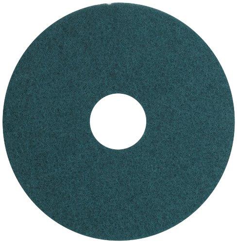 Aqua Burnishing Floor Pads - Glit 13515 TK Polyester Blend UHS Aqua Burnishing Floor Pad, Synthetic Blend Resin, Talc Grit, 15