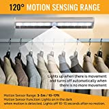 LED Motion Sensor Light 10 LED Battery Operated Lights - LED Under Cabinet Lighting - Stick On Lights Magnetic Wireless Motion Sensor Night Light for Closet, Counter, Stairway [3 Pack] by PeakPlus