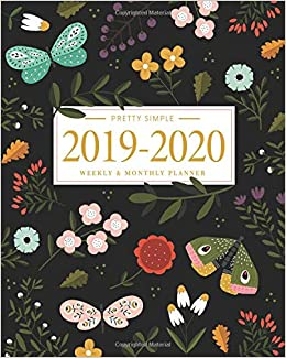 2020 Quotes Calendar Pretty Simple Planners 2019   2020 Planner Weekly and Monthly