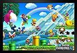 Pyramid America Super Mario Bros U Level Framed Poster 20x14 inch