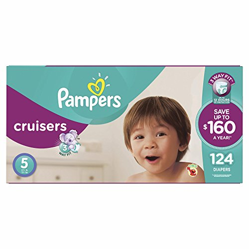 Product of Pampers Cruisers Size 5 Diapers, 124 ct. (diapers - Wholesale Price - Disposable Diapers [Bulk Savings]