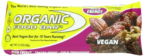 Organic Food Bar, Vegan 68 Gram Bars (Pack of 12)