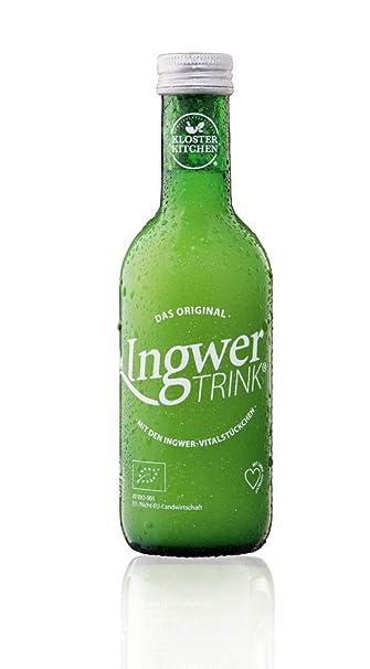 Jengibre para beber: alimentos orgánicos y veganos con jengibre vitales 250ml en botella de vidrio