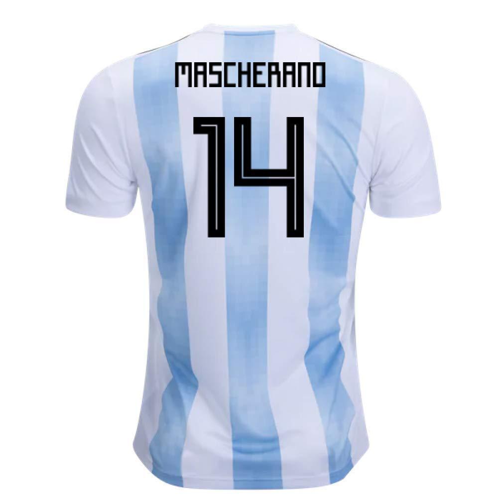2018-19 Argentina Home Football Soccer T-Shirt Trikot (Javier Mascherano 14)