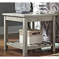 Veldar Whitewash Color Square End Table