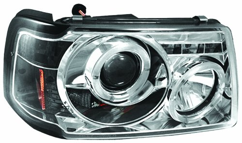 IPCW CWS-507C2 Ford Ranger Chrome Projector Head Lamp with Rings - (Ford Ranger Ipcw Headlights)