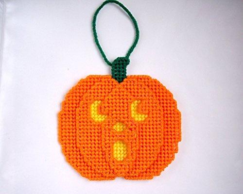 Jack Butterfly Garden (Jack O' Lantern Pumpkin Halloween Decoration Plastic Canvas Ornaments)