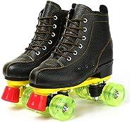 Roller Skates for Women/Men Women's Classic Roller Skates - Premium PU Leather Rink Skates for Un