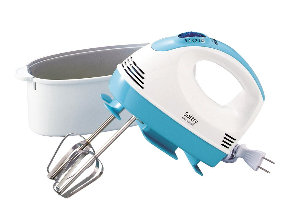 Parukinzoku Softly electric hand mixer with case D-1998