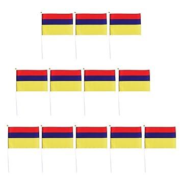 Deutschland Flagge Nationalflaggen Fahnen Flag Hand winkend mit Polen 12St