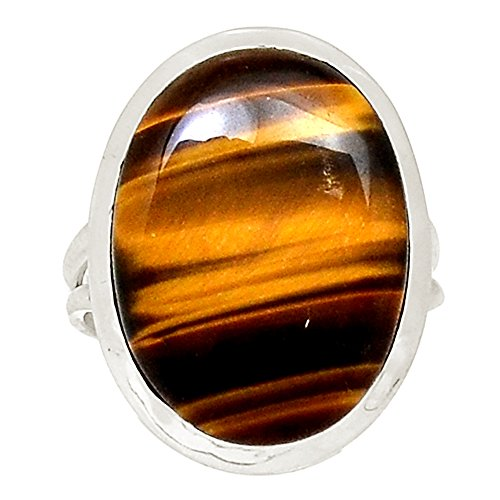 Sterling Tigers - Xtremegems Tiger Eye 925 Sterling Silver Ring Jewelry Size 9 21455R