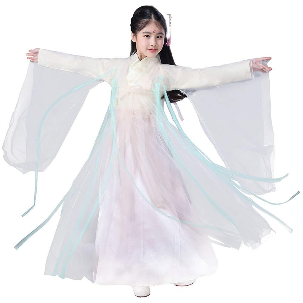 HUO FEI NIAO Kostüm Märchen Kleid Prinzessin Kleid Hanfu Weibliche Gaze Kleidung (Farbe   Weiß, größe   140cm) B07KYLFQ6Q Kostüme für Erwachsene eine breite Palette von Produkten     | Grüne, neue Technologie