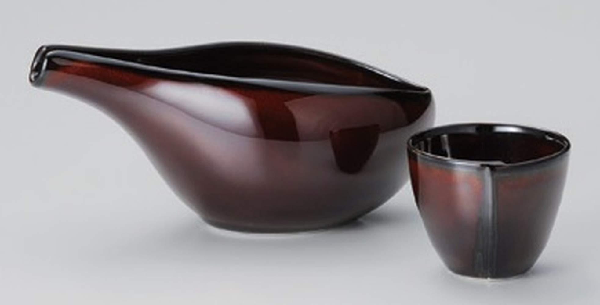Ceramic Porcelain Sake Set Handcraft Traditional Pottery Made in Japan 1PC Sake Bottle and 1PC Sake Cup