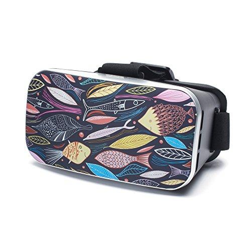 VR Virtual Reality Brille by aricona - Gaming Headset für Filme & Spiele in 3D Format für 4.0 - 6.0 Zoll Smartphones, in Cute Fish Design