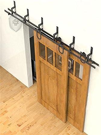 G & J 12 ft/3654 mm rústico estilo puertas correderas hardware Single Cilindro de herradura