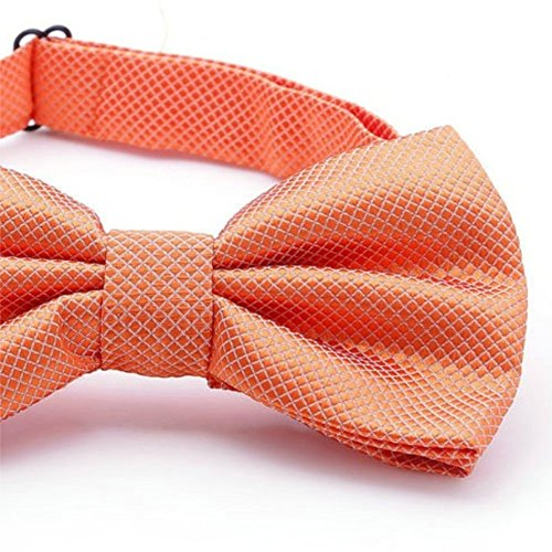 Plain Bow SKNSM Bow Tie Plaid Bow Orange Tie Party Men Fashion Wedding Tie BcqqYxp