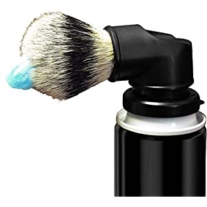 Legacy Shave - Evolution Brush - Universal Shaving Brush Engineered to Attach Directly to Shaving Cream or Shaving Gel Cans - Best Razor Wet Shave Brush for Men & Women - Black