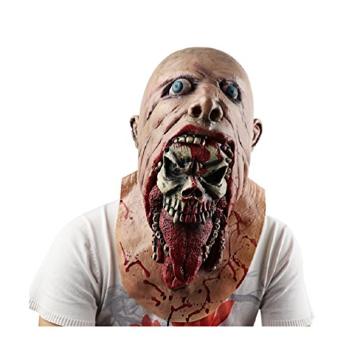 Halloween Horror Scary Zombie Latex Head Mask Cosplay Party Novelty Costume