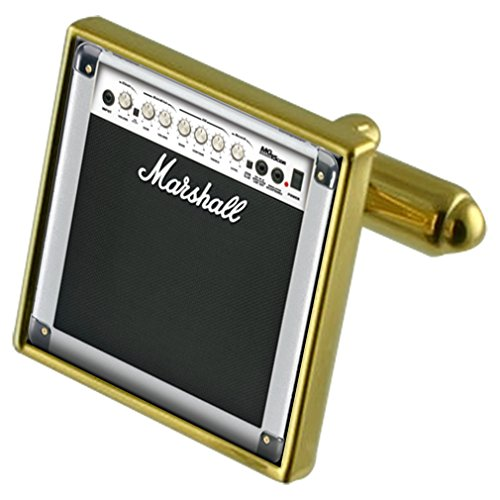 Select Gifts Guitar Amp Gold-Tone Cufflinks in Pouch ()