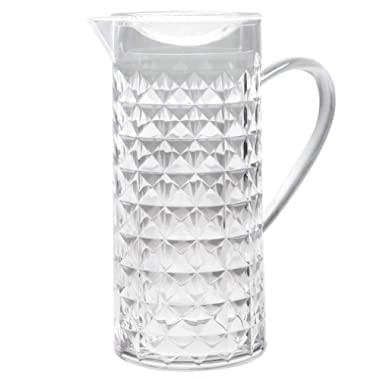 Bekmore Acrylic Water Pitcher, Great for Iced Tea Water and Juice, BPA Free 52 Ounces Clear
